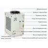 Оптоволоконный лазерный резак охлаждается промышленным чиллером CW-6000 мощностью 3кВт.