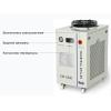 Высокоскоростной оптоволоконный лазерный резак охлаждается высокоточным чиллером CW-5300.