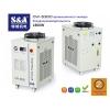 Оптоволоконный лазерный резак с двумя шестеренчатыми приводами охлаждается чиллером CW-5300 S&A
