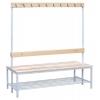 Скамейки для раздевалок,    скамейки для гардеробных,    скамейки с  полками и крючками металлические